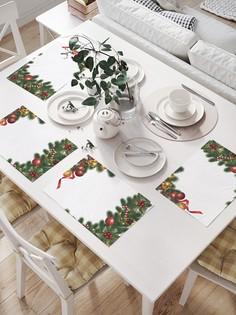 JoyArty Комплект салфеток для сервировки стола «Елочные украшения» (32х46 см, 4 шт.)