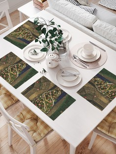 JoyArty Комплект салфеток для сервировки стола «Елка у камина» (32х46 см, 4 шт.)