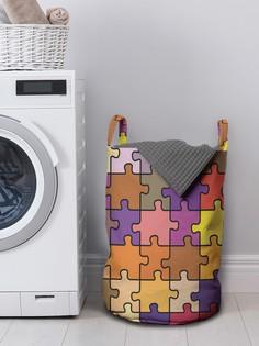 JoyArty Корзина для хранения вещей «Красочные пазлы» 35x50 см