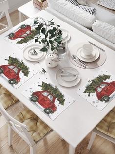 JoyArty Комплект салфеток для сервировки стола «Елка спешит праздновать» (32х46 см, 4 шт.)