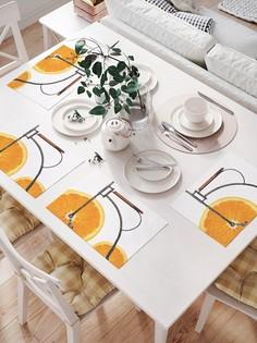 JoyArty Комплект салфеток для сервировки стола «Апельсиновый велосипед» (32х46 см, 4 шт.)