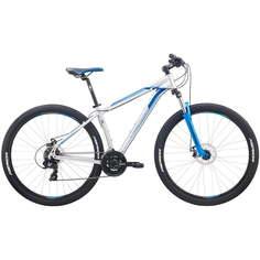 """Велосипед Merida Big.Nine 10-MD 2020 15"""" серебряный/голубой"""