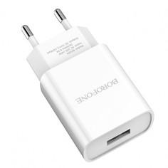 Сетевое зарядное устройство Borofone BA20A 1USB 2.1A White