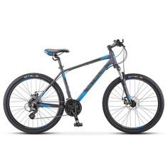 """Велосипед Stels Navigator 630 MD K010 2020 20"""" антрацитовый/синий"""