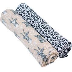 Пеленки Bamboo Muslin 2 шт. Bebe au Lait Safari/Leopard