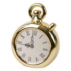 Декоративная копилка Часы золотые из керамики / 12х5,7х15,8 арт.76320 Феникс-Презент