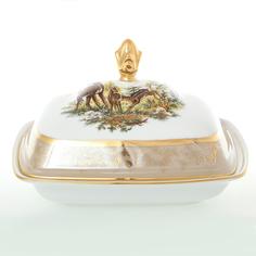 Масленка Sterne porcelan Охота Бежевая