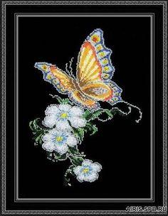 Набор для вышивания Бабочка на цветке 20 x 28 см арт. 452 Овен