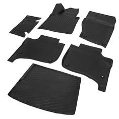 Комплект ковриков салона и багажника Rival Volkswagen Touareg II