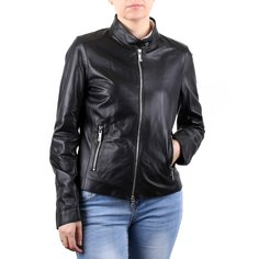 Кожаная куртка женская Baldinini S1126 черная 46 RU