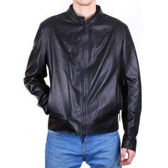 Кожаная куртка мужская Baldinini N0661 черная 50 RU