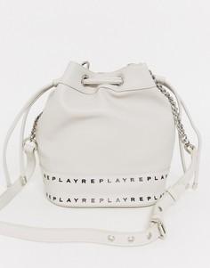 Белая сумка-мешок Replay-Белый