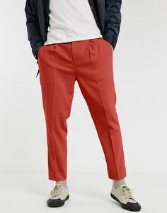 Зауженные брюки ASOS DESIGN-Светло-коричневый