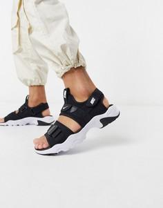 Черные сандалии Nike-Черный
