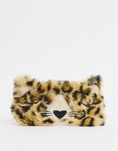 Пушистая маска для сна с леопардовым принтом Sass & Belle-Мульти