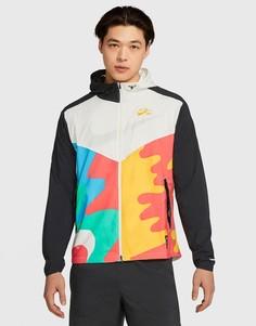 Светлая куртка-ветровка Nike Running Andrew Savage-Мульти