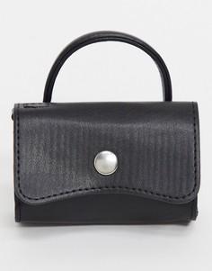 Черная маленькая сумка из искусственной кожи ASOS DESIGN-Черный
