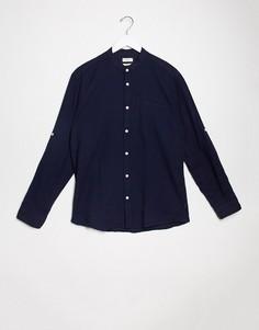 Рубашка с воротником на пуговице и длинными рукавами Esprit-Темно-синий
