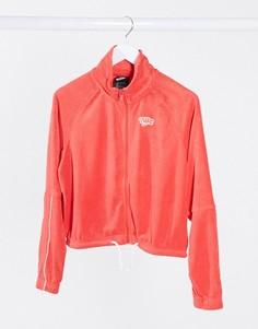 Красная короткая махровая олимпийкав стиле ретро Nike-Красный