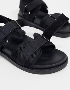 Черные сандалии из переработанного полиэстера Monki-Черный