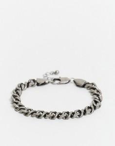 Браслет-цепочка оловянного цвета ASOS DESIGN-Серый