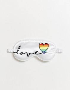 """Маска для сна с надписью """"love"""" SMUG-Белый"""