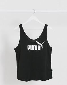 Черная майка с логотипом Puma Essentials-Черный