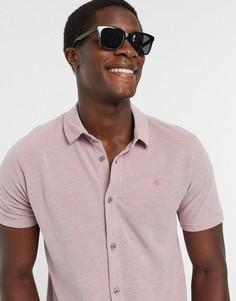 Розовая трикотажная рубашка с короткими рукавами Burton Menswear-Розовый