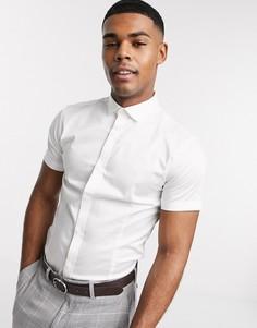 Белая строгая рубашка с короткими рукавами Jack & Jones Premium-Белый