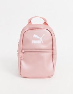 Розовый рюкзак металлик Puma Core Minime