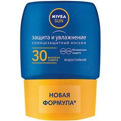 """Солнцезащитный мини-лосьон для тела Nivea Sun """"Защита и увлажнение"""" SPF 30, 50 мл"""