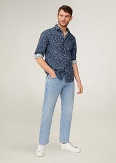 Рубашка slim fit с цветочным принтом - Recife Mango