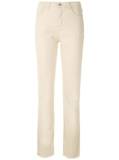 Osklen брюки прямого кроя с бахромой