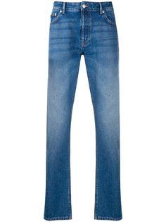 Officine Generale джинсы прямого кроя с эффектом потертости