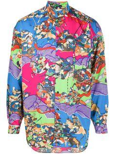 Kansai Yamamoto Pre-Owned рубашка с принтом 1980-х годов