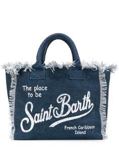 Mc2 Saint Barth джинсовая пляжная сумка с логотипом