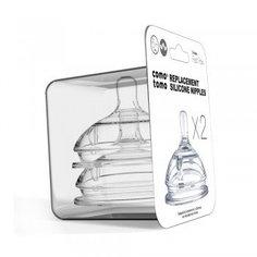 Соски из силикона Comotomo Natural Nipple Packs от 6 мес., 2 шт.