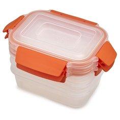 Joseph Joseph Набор контейнеров для хранения продуктов Nest Lock 81084 оранжевый