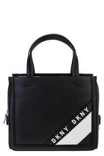 Маленькая черная сумка с текстильным плечевым ремнем Dkny