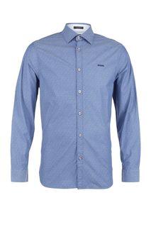Рубашка из хлопка синего цвета Guess