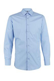Синяя хлопковая рубашка с длинными рукавами Forremann