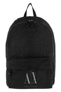 Текстильный рюкзак с монограммой бренда Armani Exchange