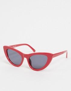 """Красные солнцезащитные очки """"кошачий глаз"""" Noisy May-Красный"""