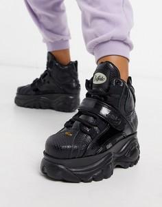 Черныеботинки на массивной подошве со шнуровкойBuffalo-Черный