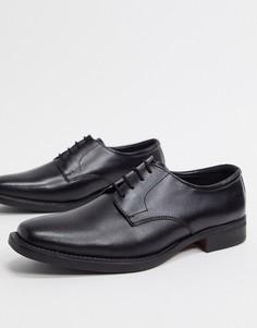 Черные кожаные туфли на шнуровке Redfoot-Черный