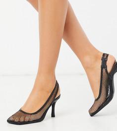 Черные сетчатые туфли на каблуке с квадратным носком Z_Code_Z Exclusive Ibna-Черный