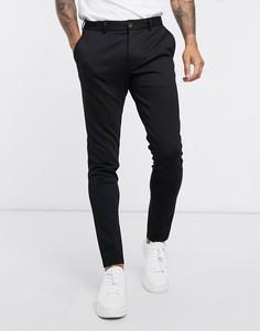 Черные узкие трикотажные брюки Jack & Jones-Черный