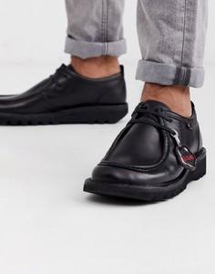Черные кожаные туфли Kickers-Черный