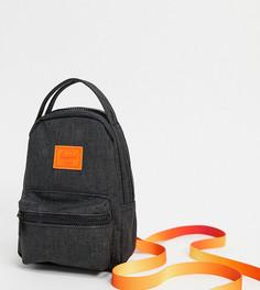 Черный/оранжевый маленький рюкзак Herschel Supply co. Nova