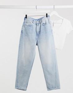 Синие джинсы в винтажном стиле из органического хлопка Weekday-Синий